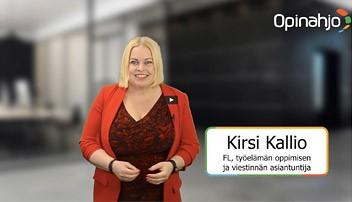 Organisaatioissa tarpeet voivat muuttua nopeastikin. Myös tarpeet erilaisten alojen osaajille elävät kehityksen myötä - mutta miten optimoida tuota osaamisvirtaa? Talksilla Kirsi Kallio puhuu osaamisen ostamisesta ja sen tärkeydestä.